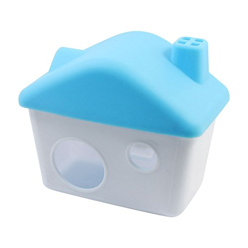 uxcell Detachable Plastic Penthouse House 4cm Door Blue White for Pet Hamster