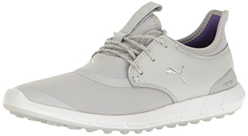 PUMA Women's Ignite Spikeless Sport WMNS Golf Shoe, Gray Violet Silver-Royal Purple, 7 Medium US