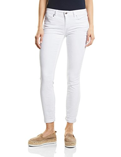 Street One Vaqueros Slim para Mujer Blanco (White Denim 11371)