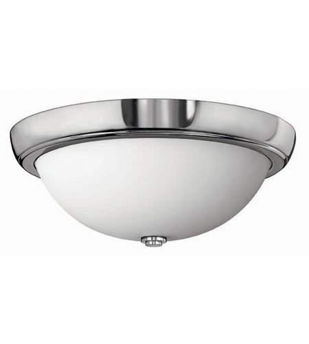 Hinkley 5781CM, Anna Round Glass Flush Mount Ceiling Lighting, 3 Light, 180 Total Watts, Chrome