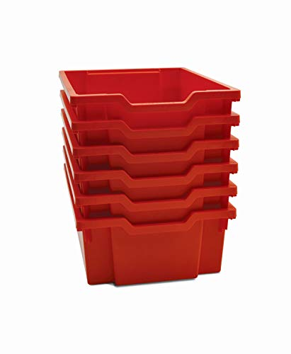 Gratnells Deep F2 Tray, Flame Red, 12.3