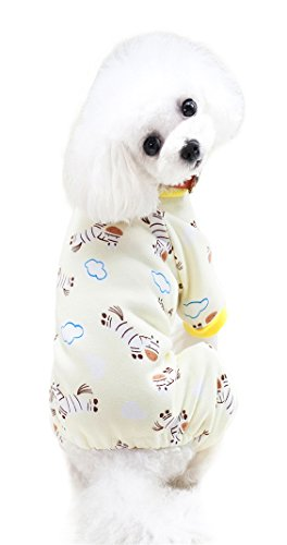ajamas shirt for Small Dogs Thick Onesie Jumpsuits Soft Puppy Coat Cat Clothes (Cozy Dog Pajamas)