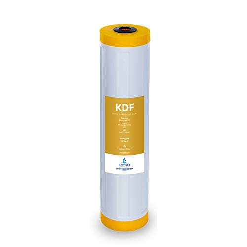 Express Water - Kinetic Degradation Fluxion Replacement Filter - KDF Catalytic Carbon Large Capacity Water Filter - Whole House Heavy Metal Filtration - 4.5