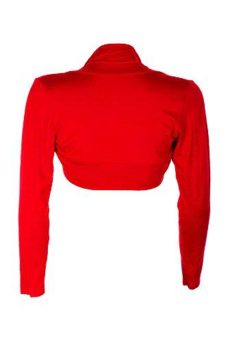 Boutique Manches Eu Uni Rouge 36 42 Pour Sapphire Cardigan Longues A Femmes aCqBnwdO