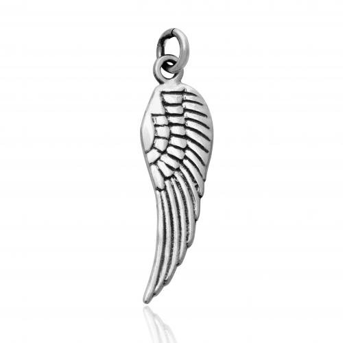 - 925 Sterling Silver Angel Wing Charm Pendant
