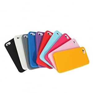 Succinct Silicone Candy Color Protective Case Cover For iPhone 5 5G -*- Color -- Blue