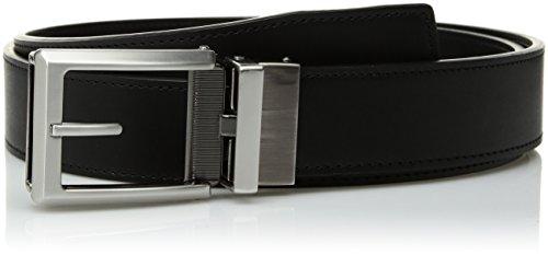 (Comfort Click Men's Adjustable Perfect Fit Ratchet Belt-As Seen On TV, Black/Brushed Nickel & Gunmetal - Smooth, ONE)