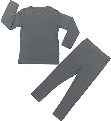 Baby Boys Girls Pajama Set 6M-8T Kids Cute Toddler Snug fit Pjs Cotton Sleepwear (Charcoal-2 X-Large(110)/4T-5T) -