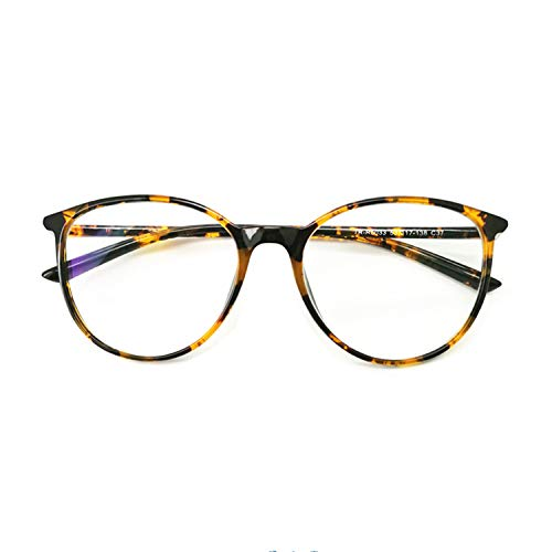 Reading Glasses - Blue Light Blocking - Round Women Men (Tortoise, 1.75)