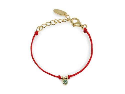 [New Born Mini Eye Red Cord Bracelet| Sterling silver Vermeil by Beckids] (Jade Vermeil Brooch)