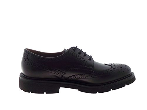 FRAU - Zapatos de cordones para hombre marrón cuero 40 negro