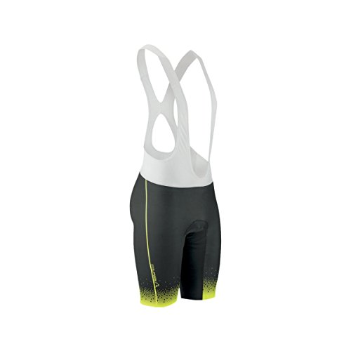 Louis Garneau Course Race 2 Bib Short - Men's Black/Bright Yellow, (Lazer Bib)
