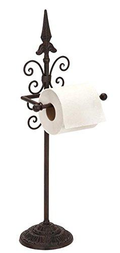 Benzara Deco 79 Metal Toilet Paper Holder, 24 by 9-Inch
