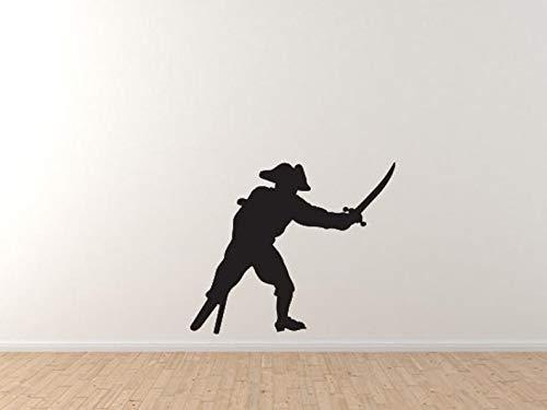 Captain Peg Leg - BYRON HOYLE Swashbuckler Pirate Crew - Captain Peg-Leg Sword Cutlass Wall Vinyl Decal Home Decor