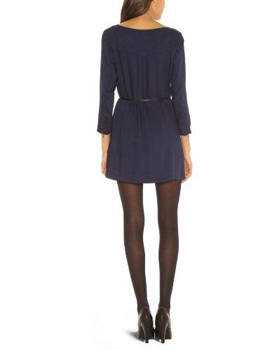 Vero Moda - Vestido con cuello redondo de manga larga para mujer Azul marino