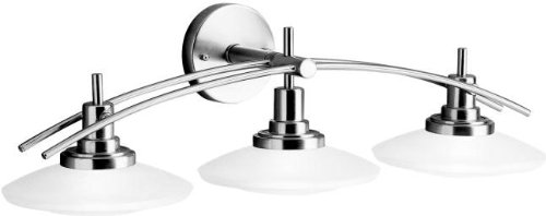 Kichler 6463NI Structures Bath 3-Light Halogen, Brushed Nickel