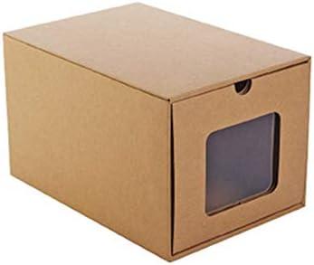 Z@SS Caja de Almacenamiento de Zapatos de Papel Kraft Soporte para Zapatos Deportivos Organizador de Maquillaje Contenedor de Tacones Altos Caja de Zapatos DIY, 4 Piezas,21 * 30 * 18.5cm: Amazon.es: Hogar