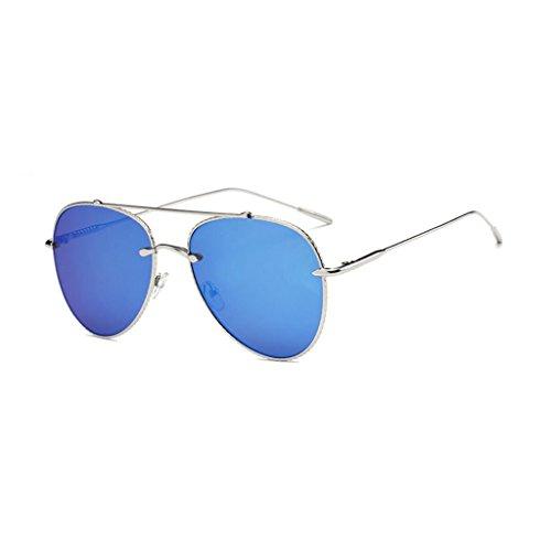 61mm Conduite Mode GAOLIXIA Lunettes UV de soleil Métal Anti Aviator Hommes en Femmes Conduite Cadre Large Blue Voyager Mode ABAFwx7q