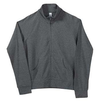 Spandex Cadet Jacket (Ladies' 6.5 oz. Cotton/Spandex Cadet Jacket, Deep Heather, S)