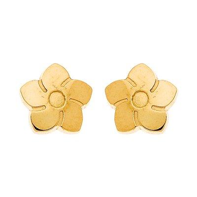So Chic Bijoux © Boucles d'oreilles Vis Enfant - Or Jaune 375/000 (9 carats) 0,60gr - Fleur