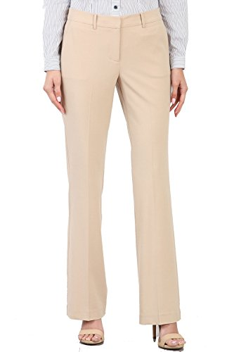 Maryclan Career Women's Dress Pants Little Boot Cut (Large, Khaki) by Maryclan