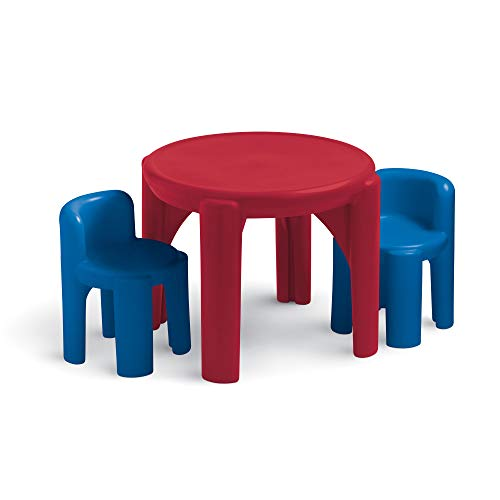 Little Tikes Activity Table with 2 Chairs Play Set for Children, Primary Colors