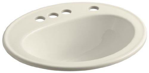 (KOHLER K-2196-4K-47 Pennington Self-Rimming Bathroom Sink with 4