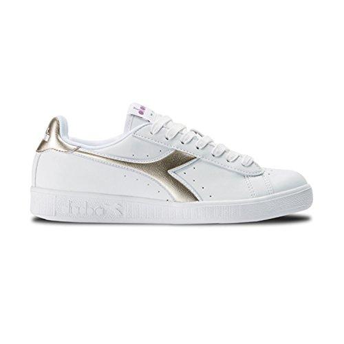 Sneaker Chromium Uomo Basso oro Bianco Diadora C1070 Collo Game P a xH0Evwatq