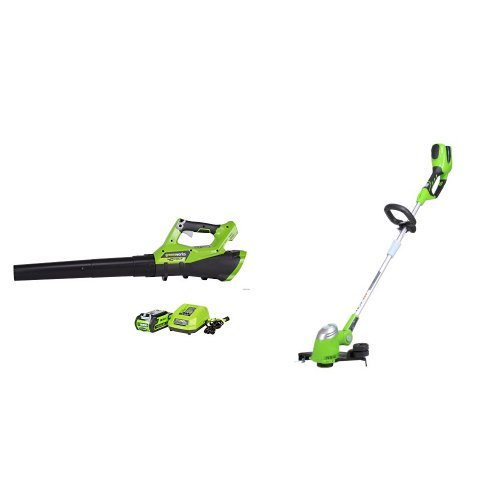 GreenWorks G-MAX 40V 13'' String Trimmer + Jet Blower by Greenworks