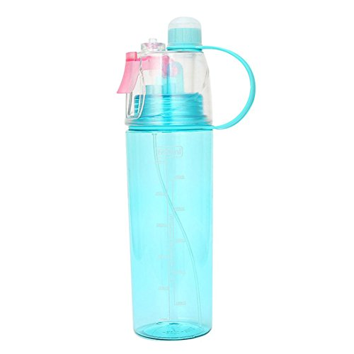 Howley Sport Cycling Mist Spray Water Gym Beach Bottle Leak-proof Drinking Cup (BLUE)