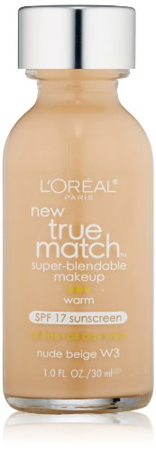 L'Oréal Paris True Match Super-Blendable Makeup, Nude Beige, 1 fl. oz.
