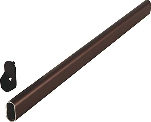 Aluminum Oval Wardrobe Tube, with Supports, Dark Oil-Rubbed Bronze Color, 48