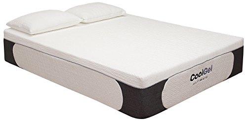 Classic Brands Cool Gel Ultimate Gel Memory Foam 14-Inch Mattress with BONUS 2 Pillows, - Best Brands The