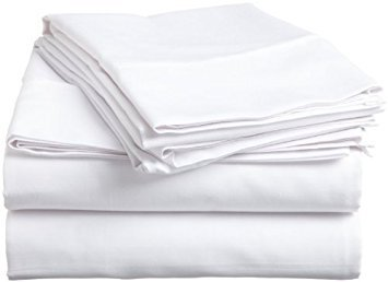 California king Size Flat Sheet Only,Egyptian Cotton 1 Piece Luxury Hotel Flat Sheet/Top Sheet White Solid-100% Satisfaction Guarantee