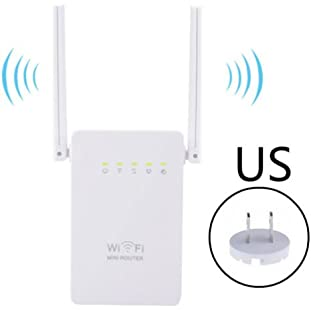 300Mbps Wireless-N Range Extender WiFi Repeater Signal Booster Network Router Computer Set