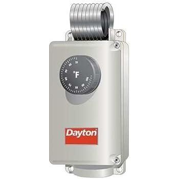 Dayton 6EDY5 Line Voltage Thermostat, 120-240V, SPDT