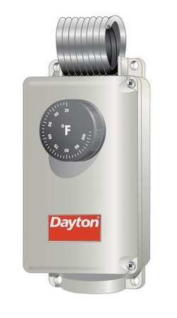 Dayton 6EDY5 Line Voltage Thermostat, 120-240V, ()