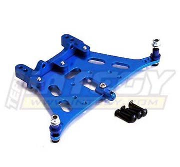 Rustler Carbon Fiber (Integy RC Model Hop-ups T8053BLUE V2 Rear Shock Tower for Traxxas Rustler)