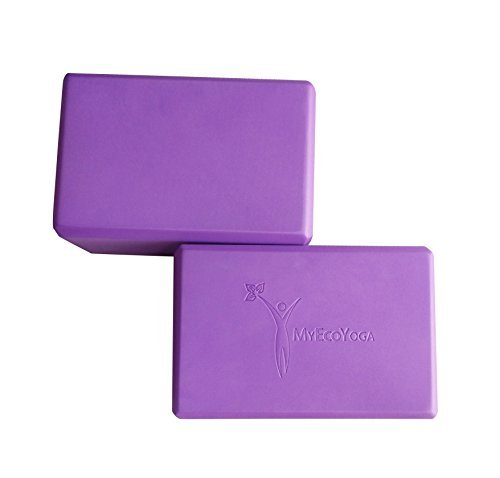 Yoga Blocks | Exercise Bricks | 2 Count | Eco Friendly | Lightweight | Odor Resistant | Moisture Proof | Supports & Deepens Poses | Ideal for Yoga, Pilates & Gym Fitness Classes | MyEcoYoga Blocks