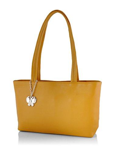 Butterflies Women's Handbag (Mustard) (BNS 0539MSD)