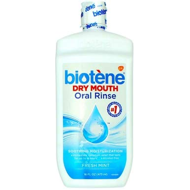 Biotene Dry Mouth Oral Rinse, Fresh Mint 16 oz ( Pack of 8)