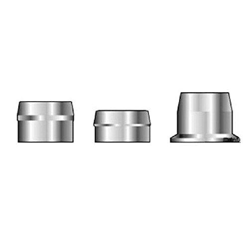 (QS-QUICK SHIP) Huck C6L 2LC-2CU12 Lockbolt Collar; 3/8 Inch (0.375 Inch), Standard FLNG Collar, SST, Plain (2000 PK)