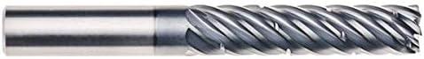 7 Flute 1.7500 LOC .0300 Radius Round Shank Type RedLine Tools Single End Corner Radius Carbide End Mill .5000 AlCrNX Coated 1//2 4.0000 OAL RFZ07206