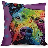 Throw Pillow Case Of Dog Abstract Art 18 X 18 Inches / 45 By 45 Cm,best Fit For Kids Room,bf,teens,kids Girls,relatives,chair 2 Sides
