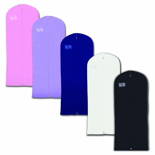 "Hangerworld Mixed Colours Breathable 60"" Suit or Dress Garment Bag - Secret Internal Zipped Pocket, Pack of 5"