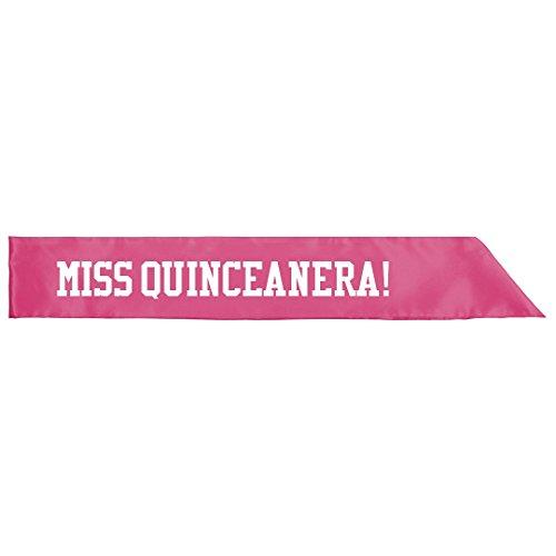 Quince Anos Sash - Miss Quinceanera Sash Birthday: Adult Satin Party Sash