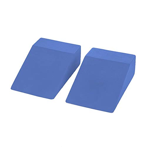 Yoga Foam Wedge Blocks (Pair) Soft Wrist Wedge, Supportive Foot Exercise Accessories, Balance, Strength, Stretch, Pilate, Fitness, Squat, Pushup, Plank, EVA Riser Block (Best Wrist Support For Yoga)