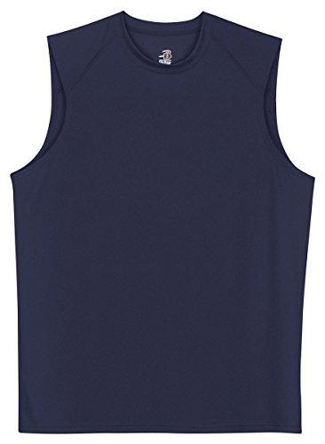 Badger Sportswear B-Dry Sleeveless Athletic Performance T-Shirt, X-Large, Navy