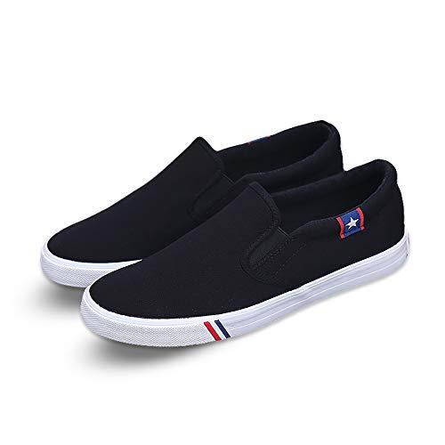 Kakkkchi A002 Men's Shoes Casual Shoes Black Shoes (8, Black)