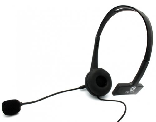 Over-the-Head 3.5mm Hands-Free Mono Headset Wired Headphone